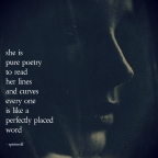 she is the poem